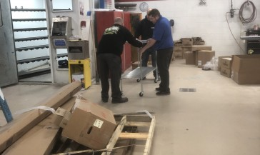 Automotive Collision Repair Install of Shelving