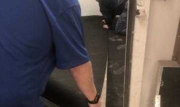 Automotive Collision Repair Flooring Install