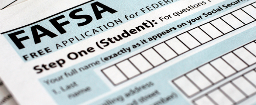 photo of paper FAFSA