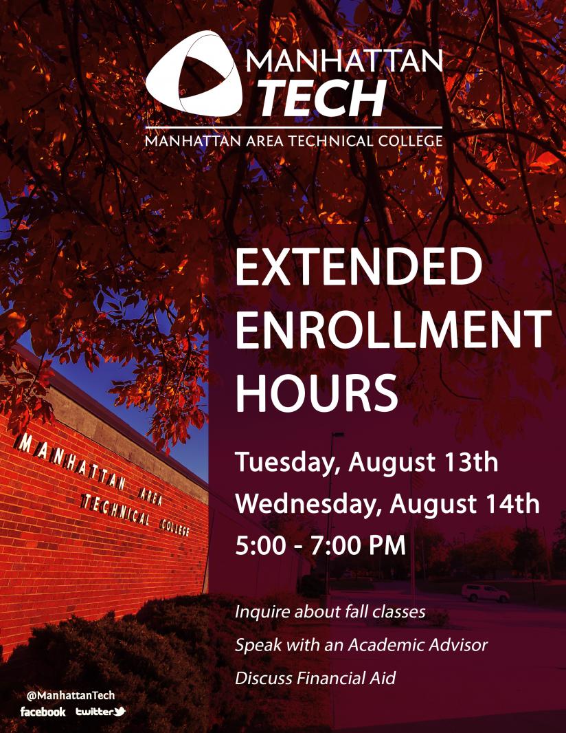 Fall 2019 Extended Enrollment Flyer