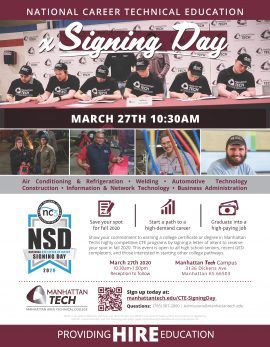 CTE Signing Day 2020 Flyer