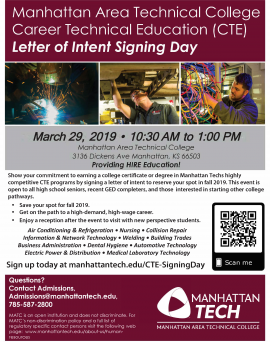 CTE Signing Day 2019 Flyer